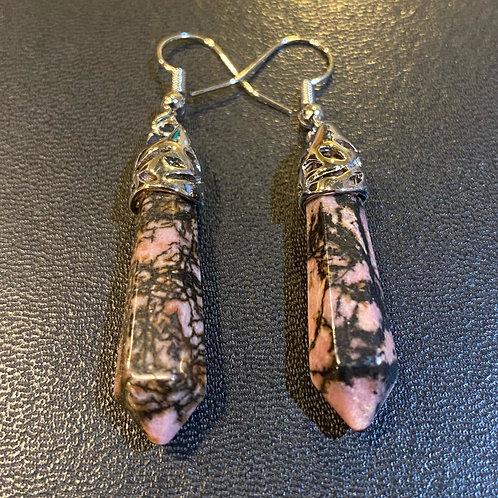 Rhodonite Tower Earrings