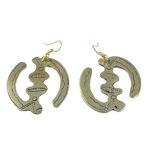 Tuareg Gold Gye Nyame Earrings