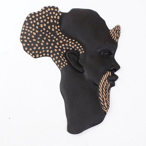 African Ancestor Wood Plaque
