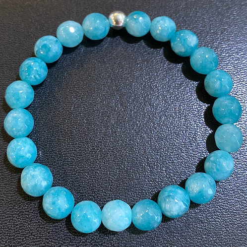 Faceted Turquoise Agate Healing Bracelet