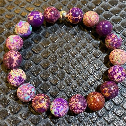 Galaxy Sea Sediment Jasper Healing Bracelet