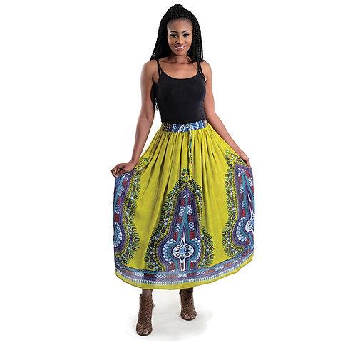 Mustard Traditional Flow Skirt