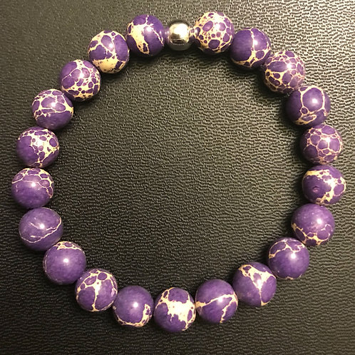 Purple Sea Sediment Jasper Healing Bracelet