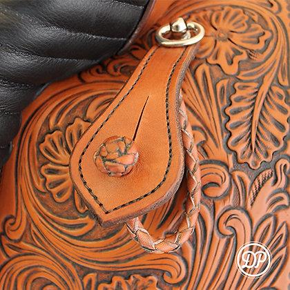 Stirrup holder braided/fancy