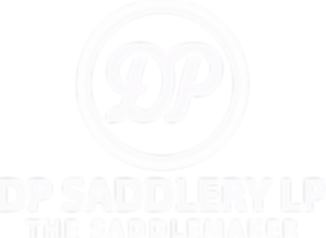 DP SADDLERY LOGO STRECHED white transpar