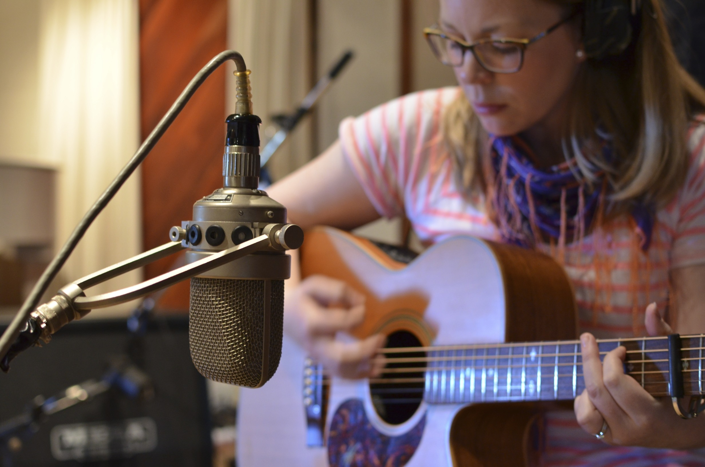 Jill Beth Recording the EP