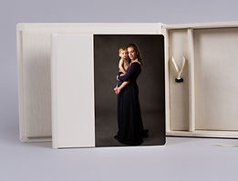 nPhoto acrylic album with beautiful maternity portrait on the cover.