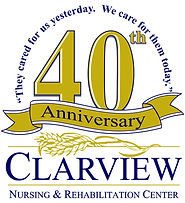 Clarview 40th Anniversary Logo Gold Ribb