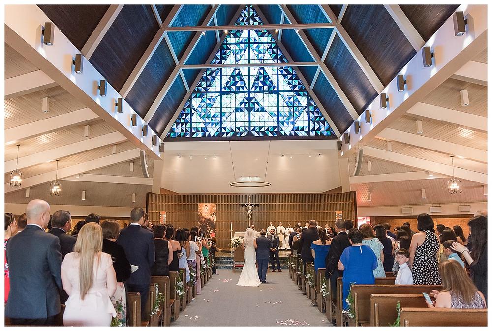 Cat-Granger-Photography-Wedding-photographer-summer-2019--bride-stella-york-wedding-gown-blue-suits-shrine-of-saint-jude-catholic-church