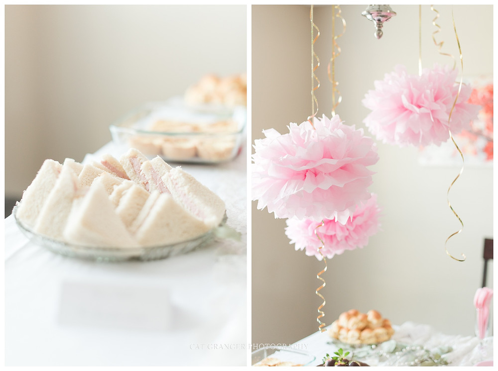 tea andwiches birthday party finger food 30 birthday decor