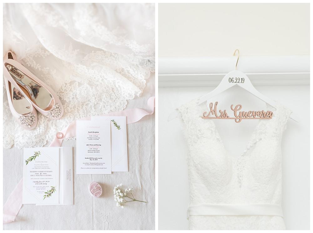 Cat-Granger-Photography-Wedding-photographer-summer-2019-details-pink-blush-badgley-mischka-pearls-stella-york-wedding-gown
