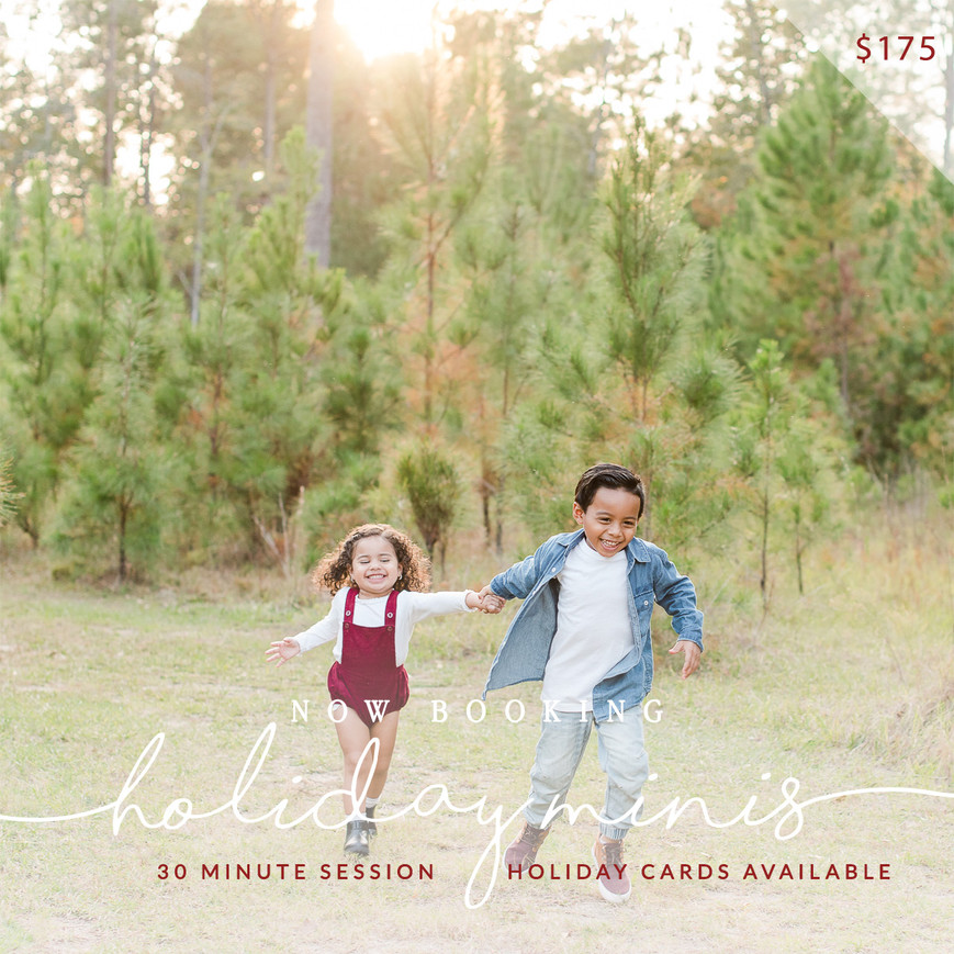 HOLIDAY CARD MINI SESSIONS - THE MCNEAL FAMILY