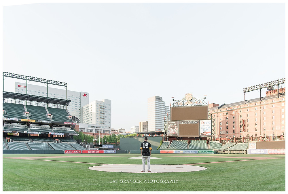 Cat-Granger-Photography-Orioles-Camden-Yards-Sesnior-Guy-Session-Maryland-Photographer-Spring-2018