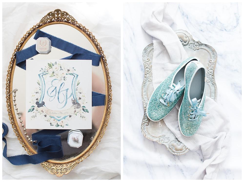 Blue-keds-wedding-shoes-details-kate-spade-glitter-shoes-blue-vitage-wedding-maryland-photographer-cat-granger-photography