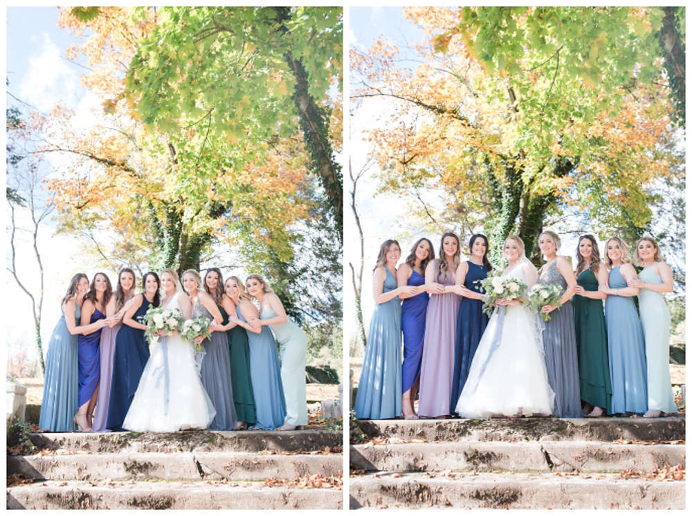Bridesmaids-mismatched-girl-squad- Historic-shady-lane-cat-granger-photography-fall-wedding-stella-york