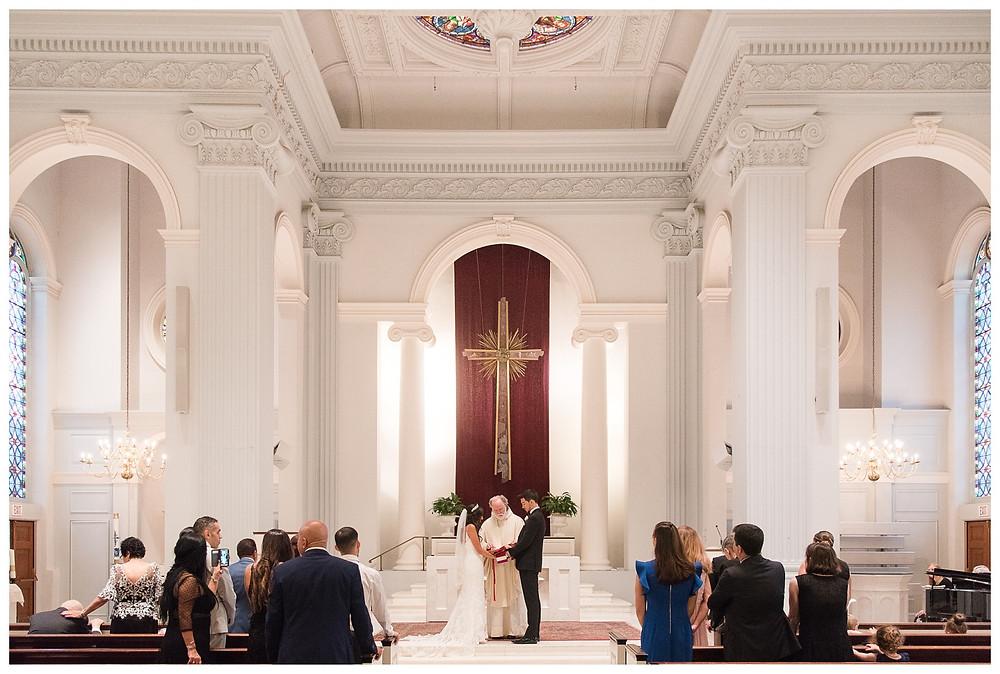 Georgetown-Washington-DC-Wedding-Summer-Rain-Urban-Holy-Trinity-Catholic-Church-indoor-ceremony