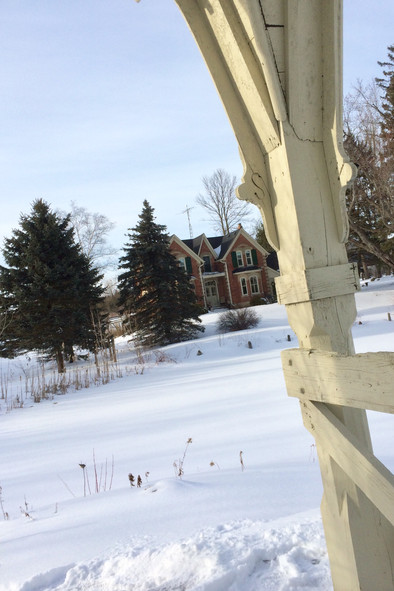 A perfect day for retreat guests to snow