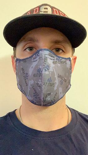 Adult Heat Straps Mask Uniform Blue