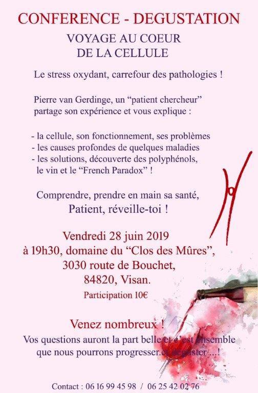 28 JUIN 2019 Conférence Dégustation