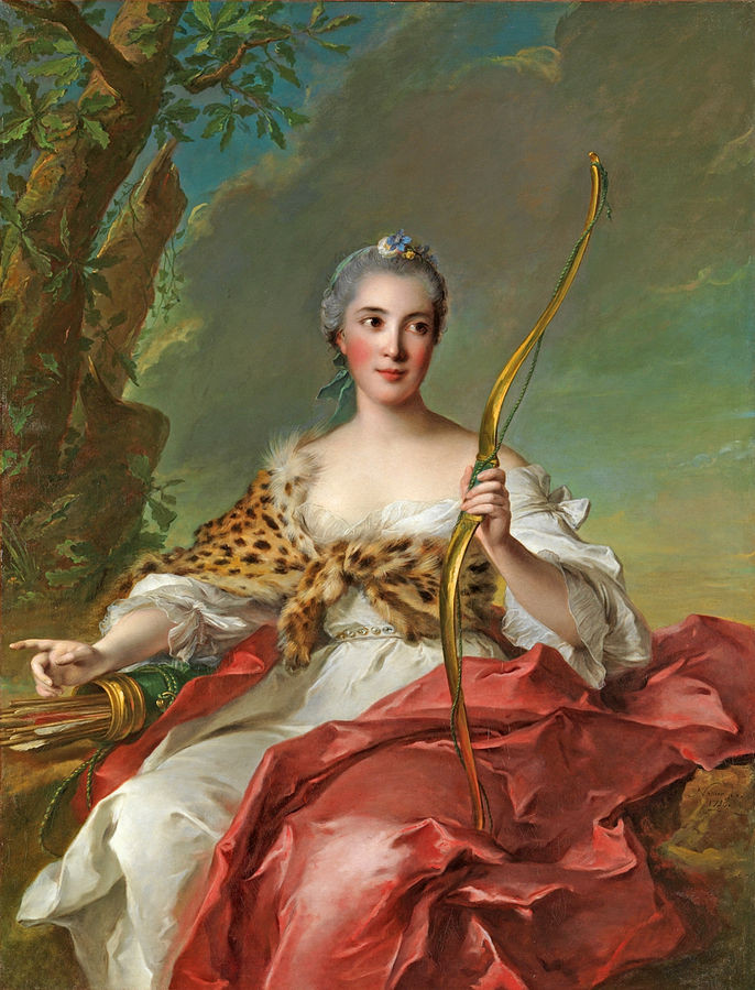 18th century noble woman in leopard print