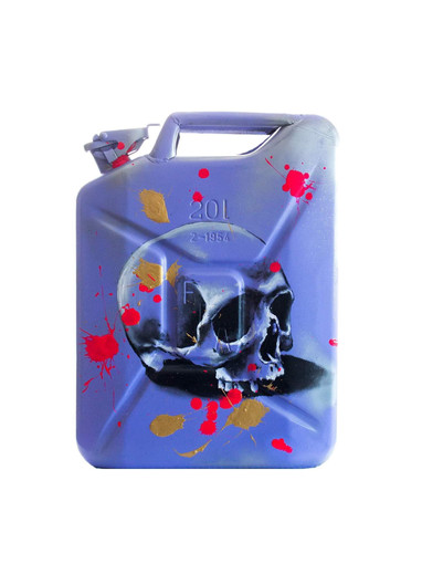 Acrylique sur Jerrican à essence 20L  Prix sur demande