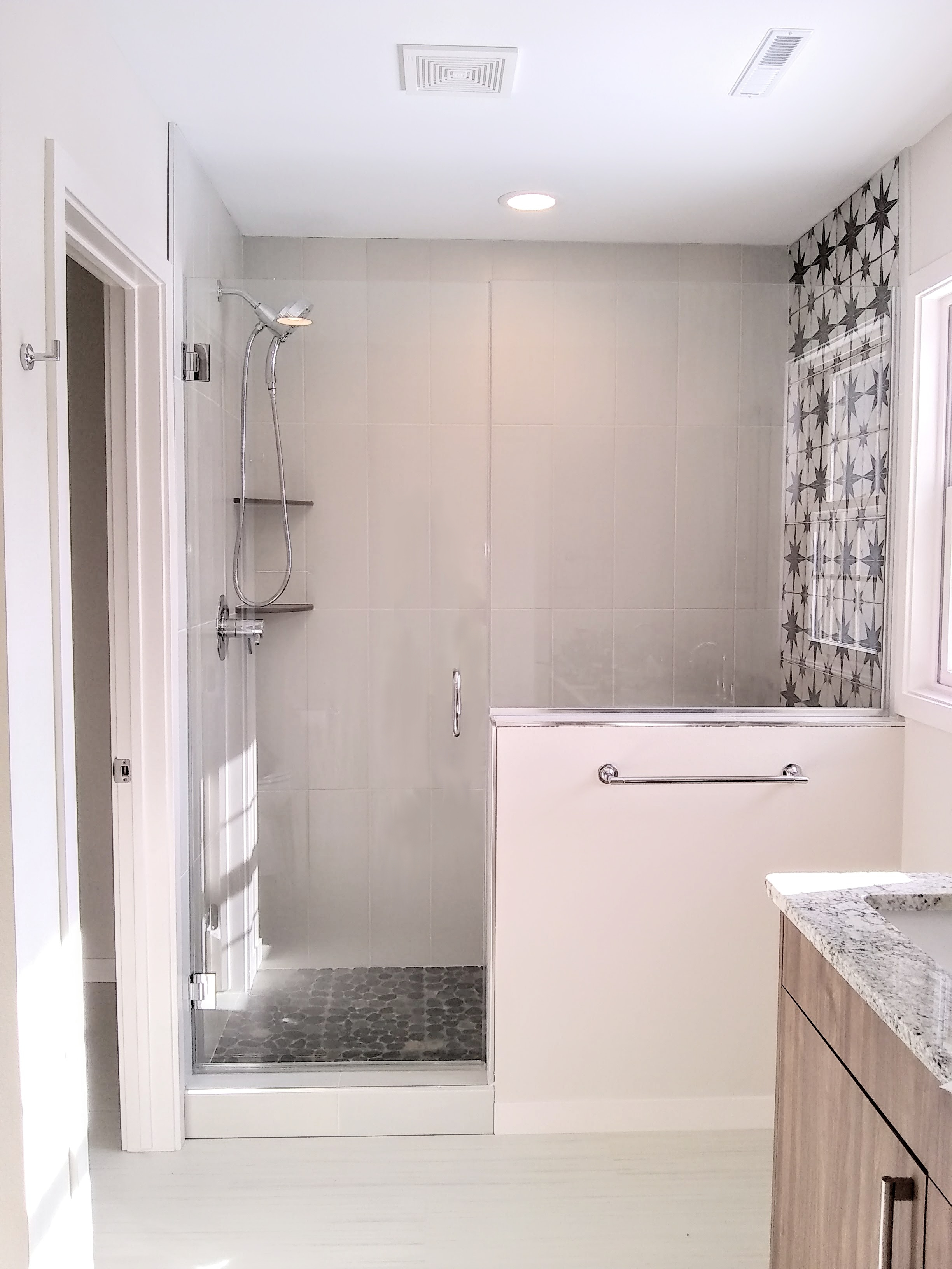"Custom 3/8"" Clear Tempered Shower"