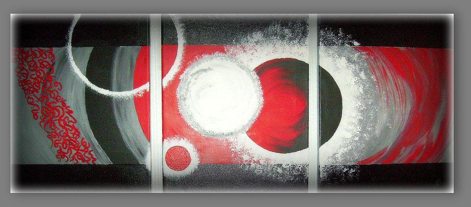 Abstrait rouge et noir - N° 041