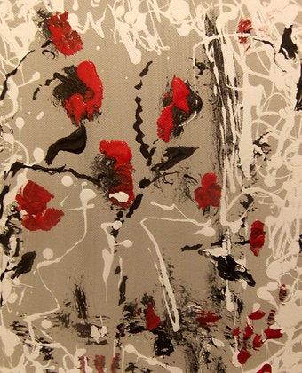 Nuée de pétales rouges - N° 117A