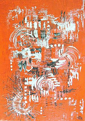 Abstrait rouge et noir - N° 128