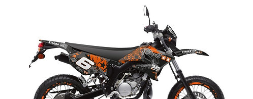 Yamaha DT50 / MBK X-Limit Stage6 Graphic Kit naranja - negro