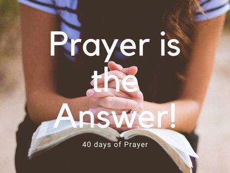 Prayer is the Answer!