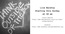Live Worship with Pastor Doug 04/05/20