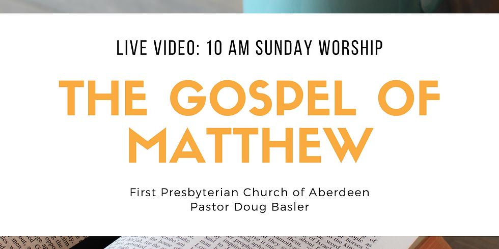 Worship Go Live Sunday at 10 am