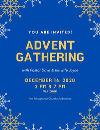 Evening Advent Gathering with Pastor Dave & his wife Joyce