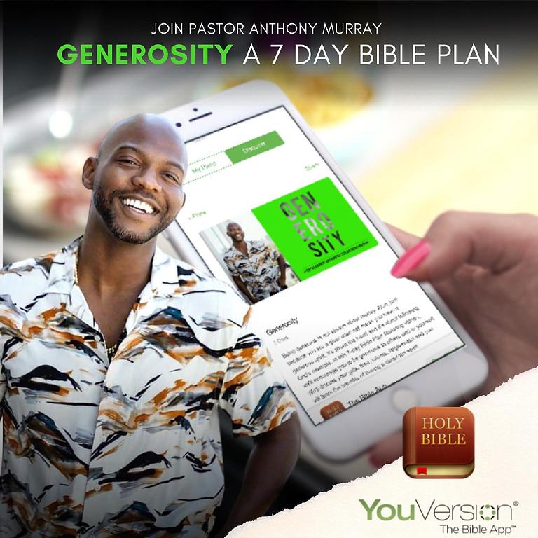 GENEROSITY BIBLE PLAN