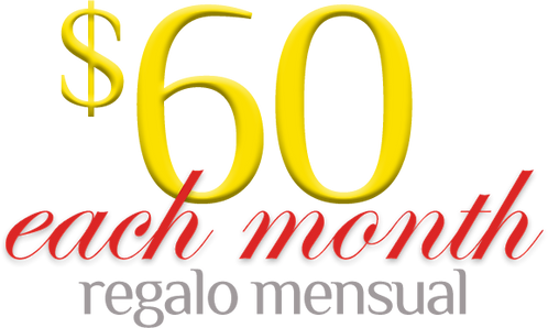 Monthly Commitment of $60