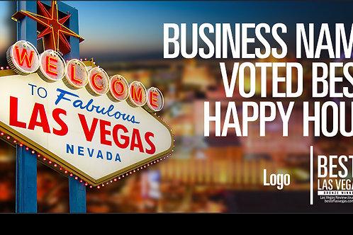 Winner's Banner Vegas Baby!