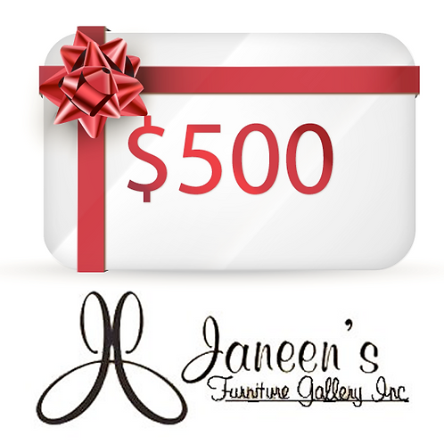 Janeens Furniture Gallery Gift Card