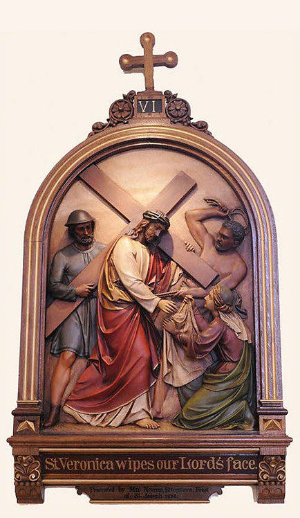 Station 6: Veronica Wipes the Face of Jesus