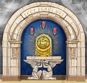 Retablo Stone Arch