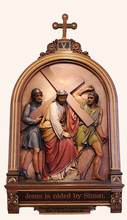 Station 5: Simon of Cyrene Helps Jesus Carry the Cross