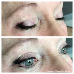Eyeliner and Eyeshadow