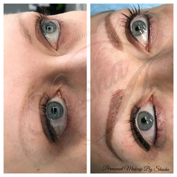 Brows correction and Eyeliner