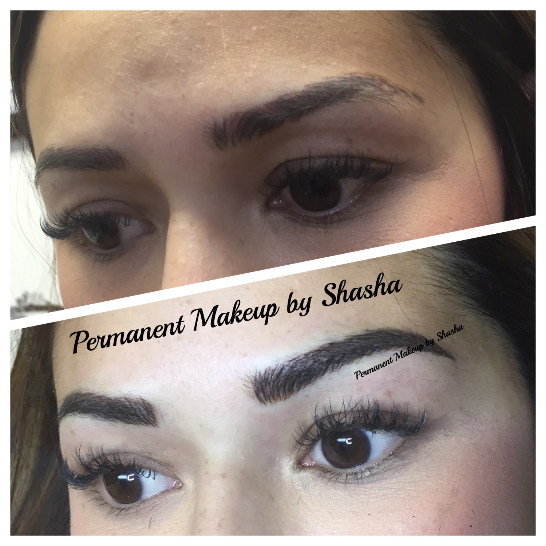 Microblading brows correction