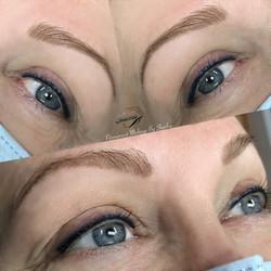 Lash line and colored upper eyeliner