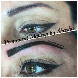 Pink/Purple brows color correction