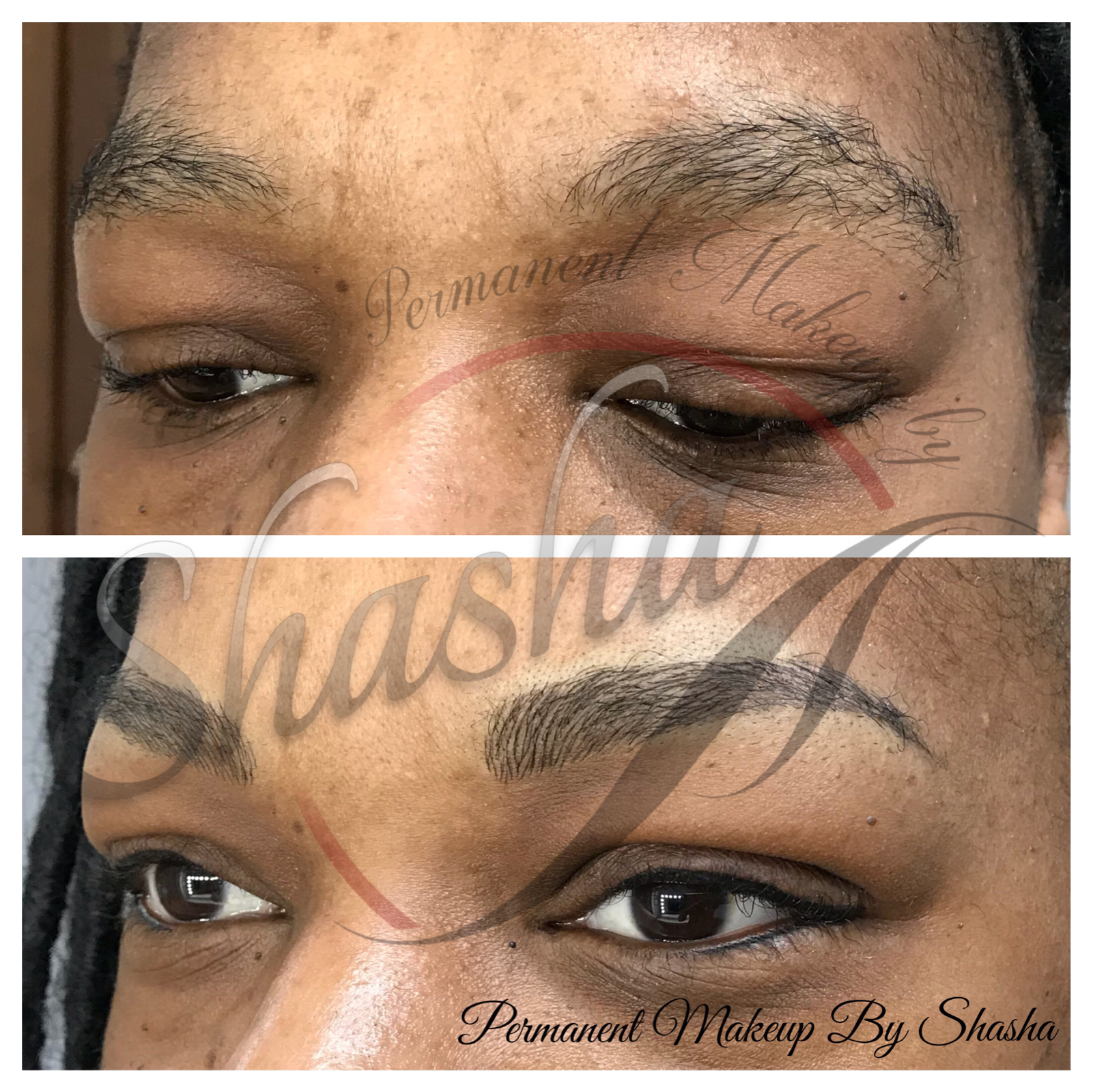 Microblading Brows and Eyeliner