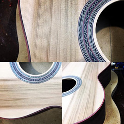 Bloodwood and ebony binding against this