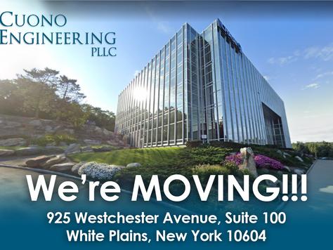 Cuono Engineering is MOVING!!!