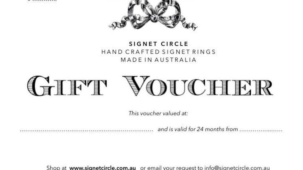 Signet Circle - Gift Voucher